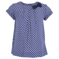 Short Sleeve Navy Top with White Spot