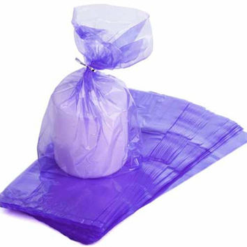 Cellophane Bags Plastic Packaging, 11-1/2-inch, 3-dozen, Purple