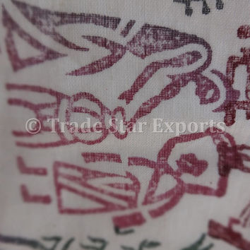 Hand Block Print AC Quilt, Indian Handmade Cotton Comforter, Tribal Pattern Block Printed Dohar, White Designer Blanket, Made by Artisians