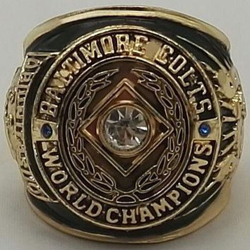 """SPORTS RING * 1958 BALTIMORE """"COLTS"""" WORLD CHAMPIONS/ ...fast delivery!"""