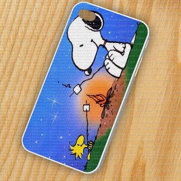 Snoopy BBQ iPhone 5 iPhone 4 - 4S Plastic Hard Case Rubber Soft Case