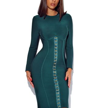FOREST FROM THE TREES BANDAGE DRESS