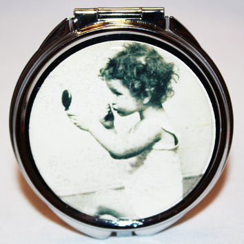 Retro Compact Mirror, Purse Mirror