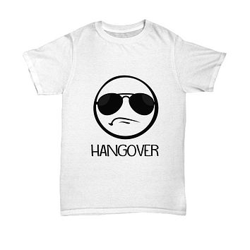 Hangover Funny Party Emoji With Shades T-Shirt