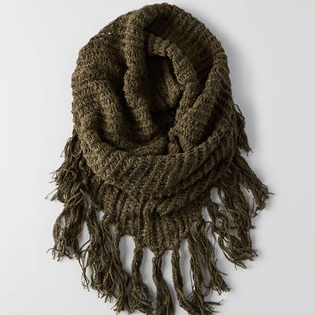 AEO Fringe Snood, Olive