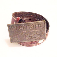 Vintage Winchester Repeating Arms New Haven Belt Buckle