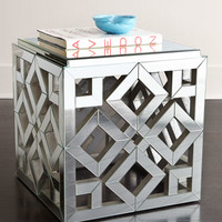 Regina-Andrew Design Diamond Mirrored Side Table