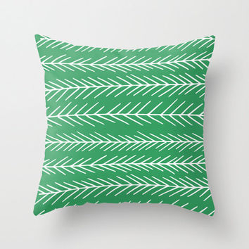 Fir tree pillow cover, green pillow, Christmas pillow, forest pillow, scandinavian pillow, Christmas decor, 18x18 pillow choose 30 colors