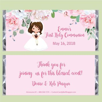 Girl First Communion Candy Wrapper