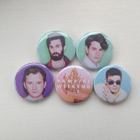 Vampire Weekend badges/ pins/ buttons.