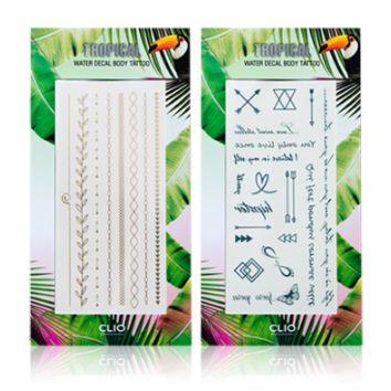 [CLIO] Tropical Water Decal Body Tattoo (17s Limited)