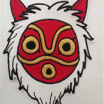 Princess Mononoke Mask Fully Embroidered Patch