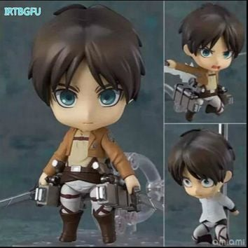 Cool Attack on Titan  Eren Q Clay Version Figure Japanese Anime Figures One Piece Action Childhood Edition New Collectible Figurines AT_90_11