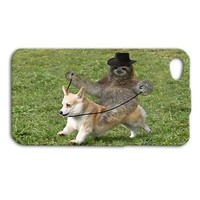 Funny Sloth Riding Corgi Dog Cute Phone Case iPhone iPod Cool Animal Cover Fun