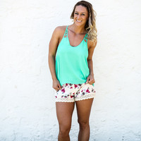 Floral For Days Shorts - Ivory