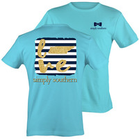 Simply Southern Tennessee Gold Love Preppy State Pattern T-Shirt