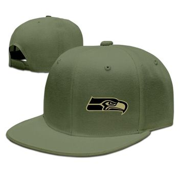 Seattle Seahawks Salute To Service Logo Funny Unisex Adult Womens Hip-hop Hat Mens Hip-hop Cap
