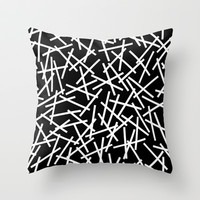 Kerplunk Black and White Throw Pillow by Project M