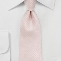 Elegant Blush Pink Tie with Silver Dots