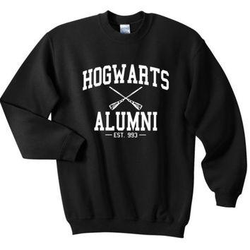 Harry potter Hogwarts Alumni Wear Custom Sweatshirts White Black S M L XL