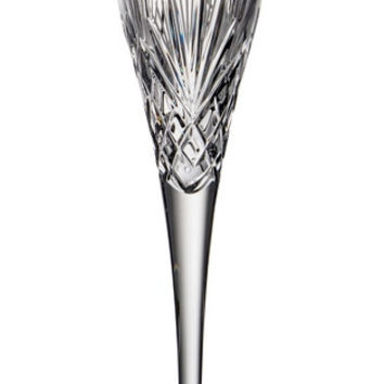 Majestic Gifts MA-726 Hand Cut Crystal 6 oz. Tall Champagne Flute Glass, Set of 4