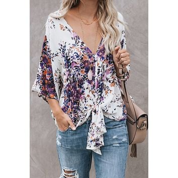 Evette Tied Front Blouse