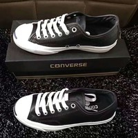 CONVERSE Unisex Canvas Flats Sneakers Sport Shoes black leather H-A-GHSY-1