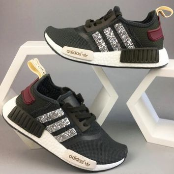 Adidas NMD NMD_R1 W Glittering Breathable Running Sports Shoes Sneakers