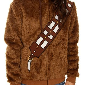 Star Wars Chewbacca Furry Zip Hoodie Size : X-Large