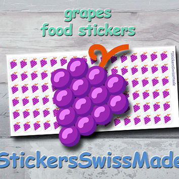 PLANNER STICKER || grapes || food || fruit || small colored icon | for your planner or bullet journal