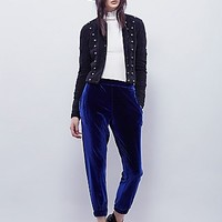 Free People Womens Fire Away Velvet Jogger