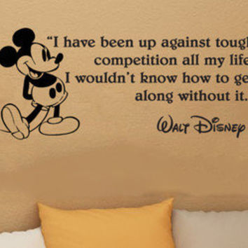 Disney Mickey Mouse I have been up wall quote vinyl wall decal sticker