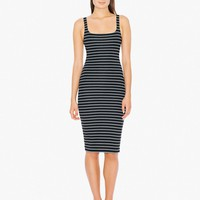 Printed Ponte Tank Dress | American Apparel