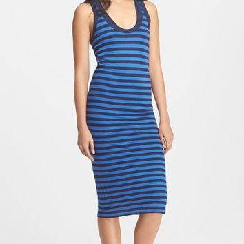 Women's Enza Costa Double Layer Stripe Jersey Tank Dress