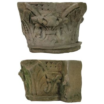 Pair of Early 18th Century Architectural Stone Fragments