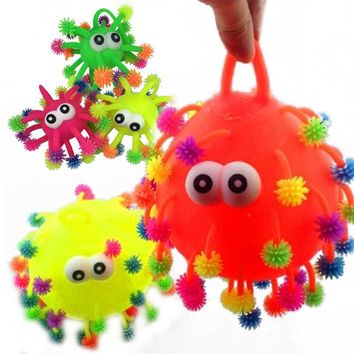 Kawaii Small Squeeze Antistress Toy Kids ADHD Autism Snowflake Stretch Hair Ball 5 Inch Fiddle Stress Elasticity Toy
