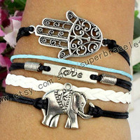 "Elephants Bracelet, LOVE Bracelet, hand Bracelet, Antique Silver Bracelet, ""women cuff Bracelet, to charm jewelry friendship gift"