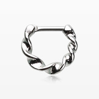 Figaro Twist Septum Clicker Ring