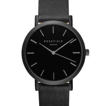 Black Nolita women's watch - black stitchless band | ROSEFIELD Watches