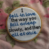 The Fault in Our Stars Quote Cross Stitch