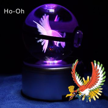 Dropship Supplier  High Quality Pokemon Go Ho-oh Pokeball as Attractive Night Light Stand