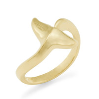 14K Dolphin's Tail Ring - Small: Wyland Store