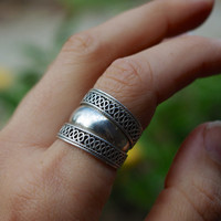 Sterling Silver Ring, Bohemian Ring, Ethnic Ring, Tribal Ring, Gypsy Jewelry, Hippie Ring, Indian Jewelry