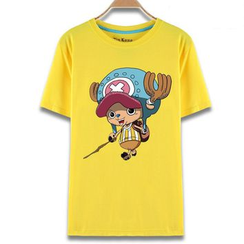 One Piece Tony Chopper Yellow Anime T-Shirt