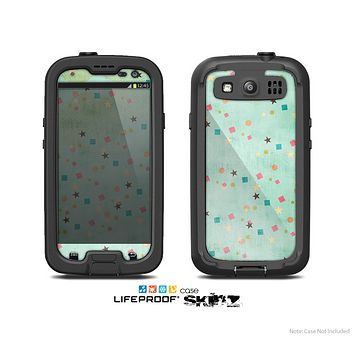 The Vintage Green Shapes Skin For The Samsung Galaxy S3 LifeProof Case
