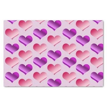 """Bunches of Hearts 10"""" X 15"""" Tissue Paper"""