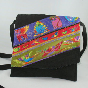 Holiday Season Purse, Christmas, Laurel Burch fabric