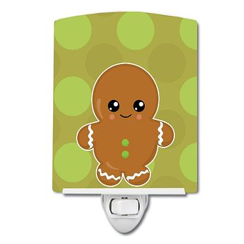 Christmas Gingerbread Man Ceramic Night Light BB6816CNL