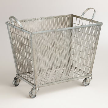 Zinc Oliver Rolling  Cart - World Market