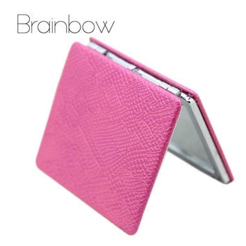 Brand New PU Notebook Design Colorful Fold Double Sides Metal Portable Pocket Mirror Personalized Compact Mirrors Makeup Vanity